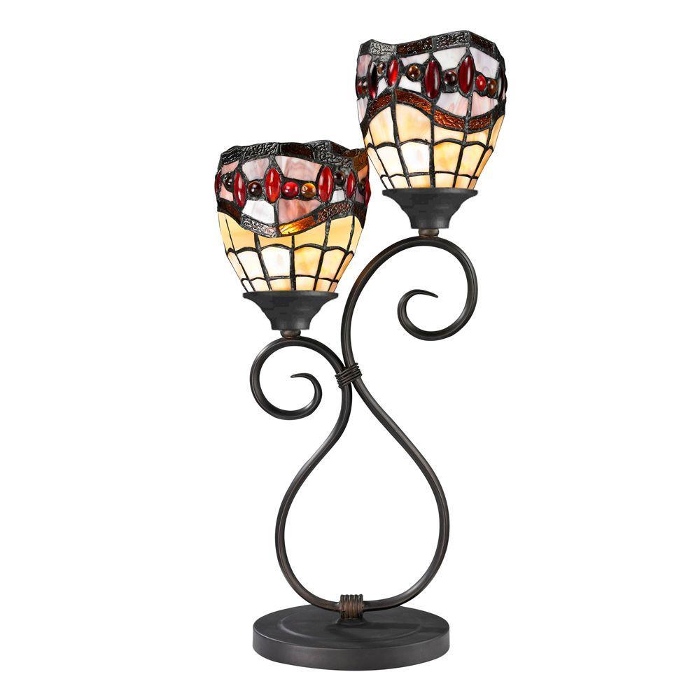 22 in. Dark Bronze Fall River Table Lamp