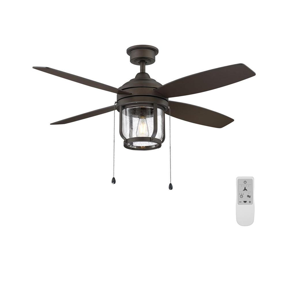Home Decorators Collection Northampton 52 in. LED Espresso Bronze Ceiling Fan with Light and WiFi Remote Control works with Google and Alexa