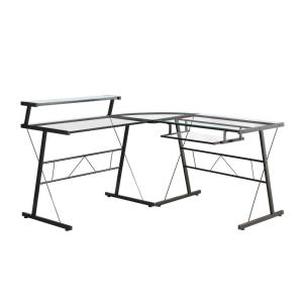 Jasmine 1-Piece Black Computer Desk