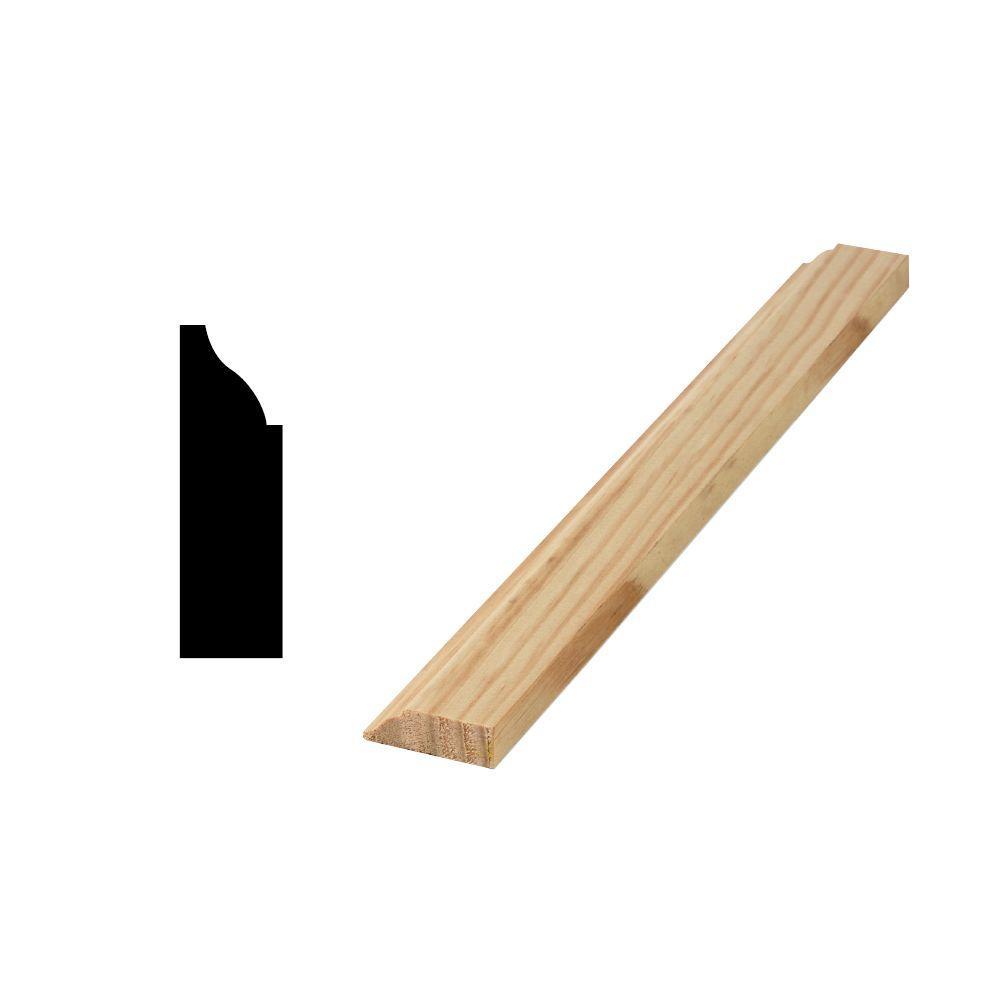 Woodgrain Millwork WM 936 7/16 in. x 1-3/8 in. Solid Pine Door and Window Stop Moulding