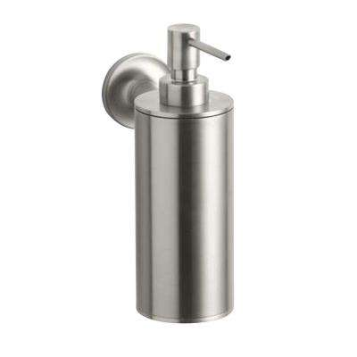Purist Wall-Mount Metal Soap Dispenser in Vibrant Brushed Nickel