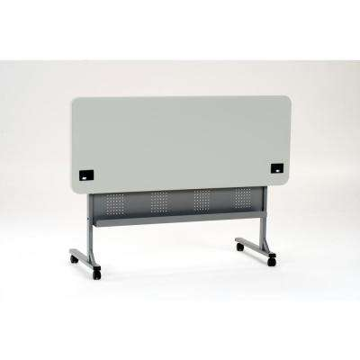 24 in. x 72 in. Grey Flip-N-Store Training Table