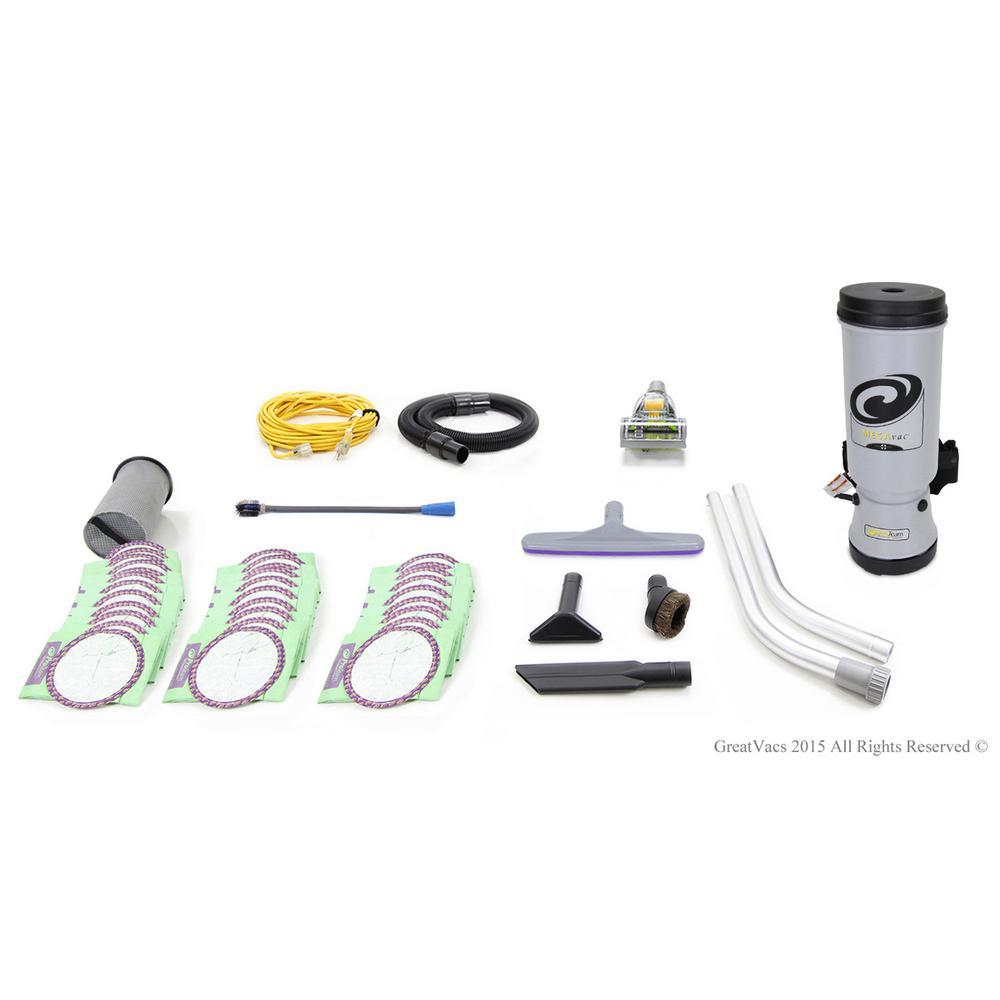 Fully Loaded MegaVac 10 Qt. Commercial Backpack Vacuum Cleaner
