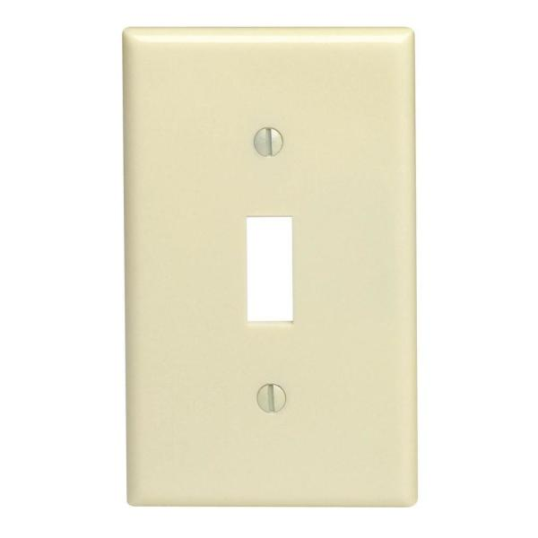 1-Gang Toggle Wall Plate, Ivory