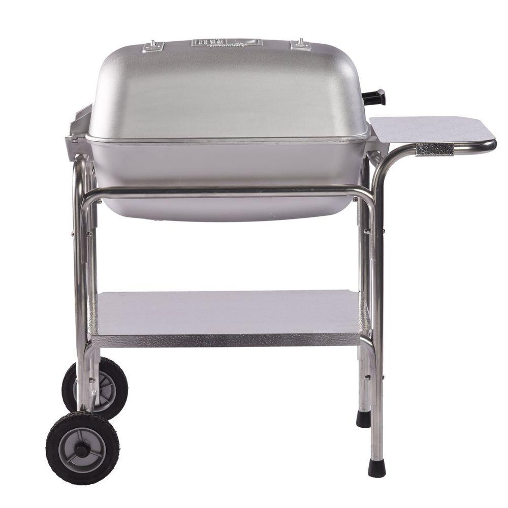 Portable Kitchen Pk Grills Original Grill And Smoker In Silver