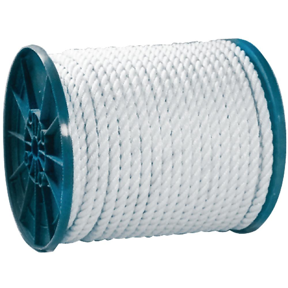 3/8 in. x 600 ft. Twisted Nylon Rope, White