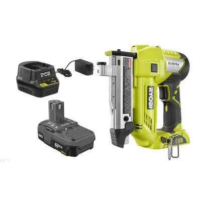 18-Volt ONE+ Lithium-Ion Cordless AirStrike 23-Gauge 1-3/8 in. Headless Pin Nailer Kit with 1.5 Ah Battery and Charger
