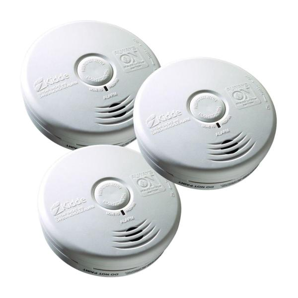 10-Year Worry Free Sealed Battery Smoke and Carbon Monoxide Combination Detector (3-Pack)