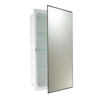 16 in. W x 26 in. H x 4.5 in. D Prism Bevel Recessed Medicine Cabinet