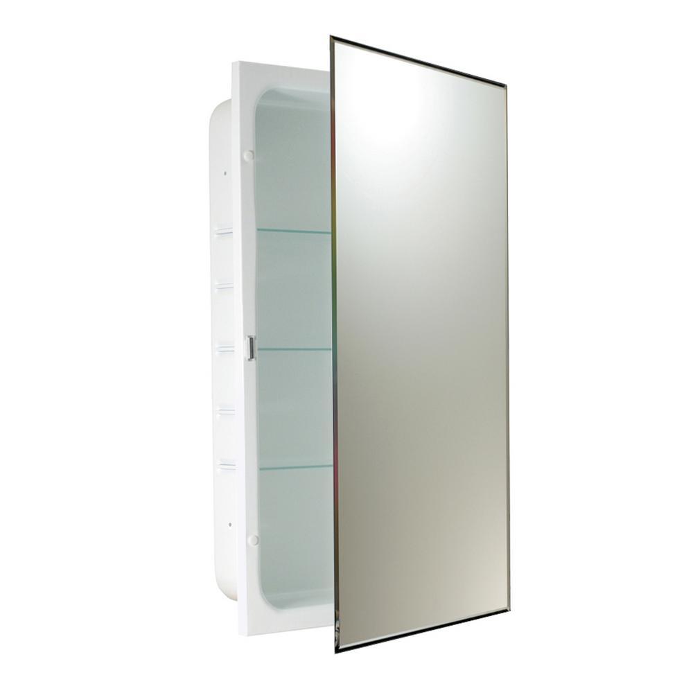 16 in. W x 26 in. H x 4.5 in. D Prism Bevel Recessed Medicine Cabinet