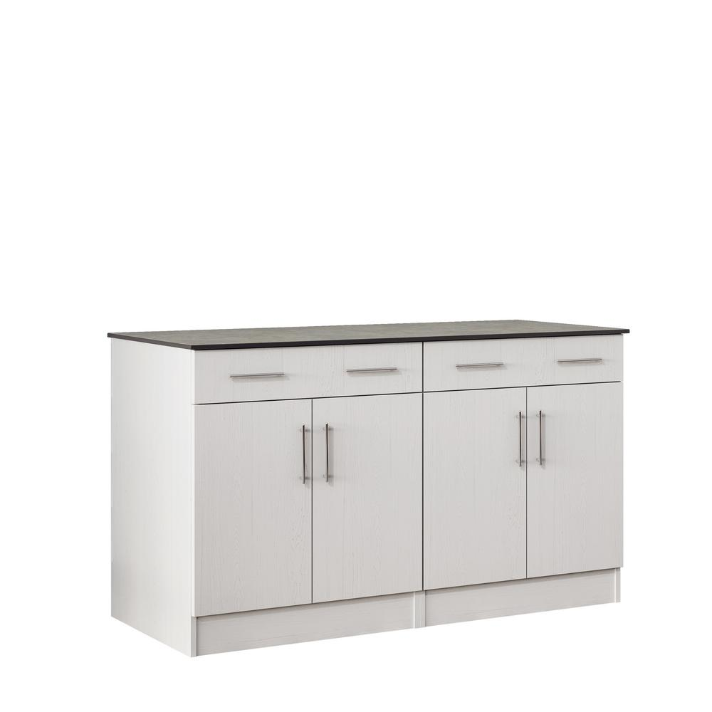 Outdoor Cabinets: WeatherStrong Miami 59.5 In. Outdoor Cabinets With