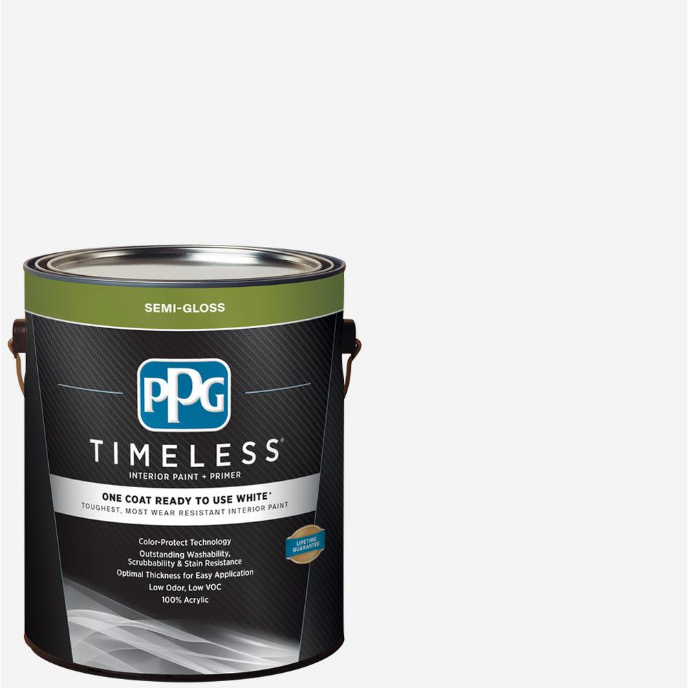 Best Sheen Of Paint For Kitchen Cabinets: PPG TIMELESS 1 Gal. White Semi-Gloss Interior Ready To Use