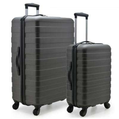 Cypress Colorful 2-Piece Charcoal Small and Large Hardside Spinner Luggage Set