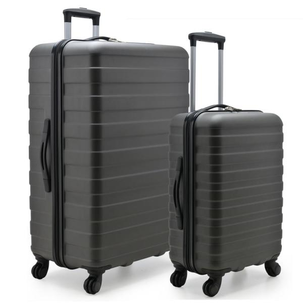 U.S. Traveler Cypress Colorful 2-Piece Charcoal Small and Large Hardside Spinner