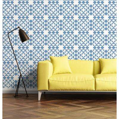 Art in Chaos Collection Conundrum in Light Royal Removable and Repositionable Wallpaper