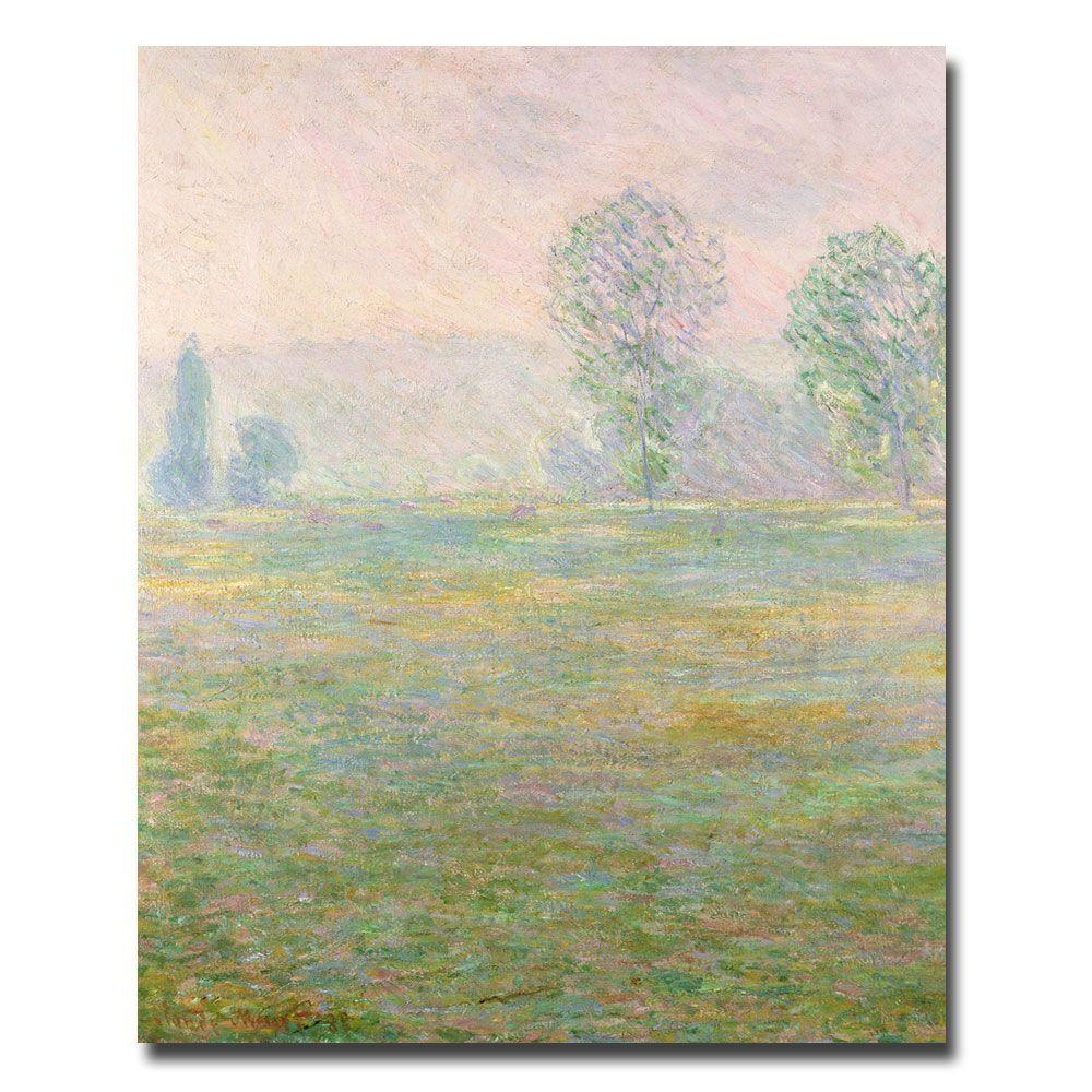 Trademark Fine Art 47 in. x 35 in. Meadows in Giverny, 1885 Canvas Art
