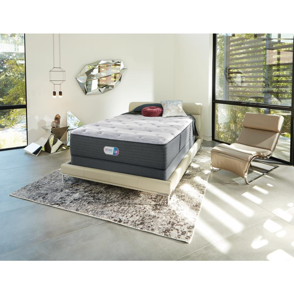 Beautyrest Hybrid BRX1000-C 13 in. Cal King Plush Mattress with 9 in. Box Spring