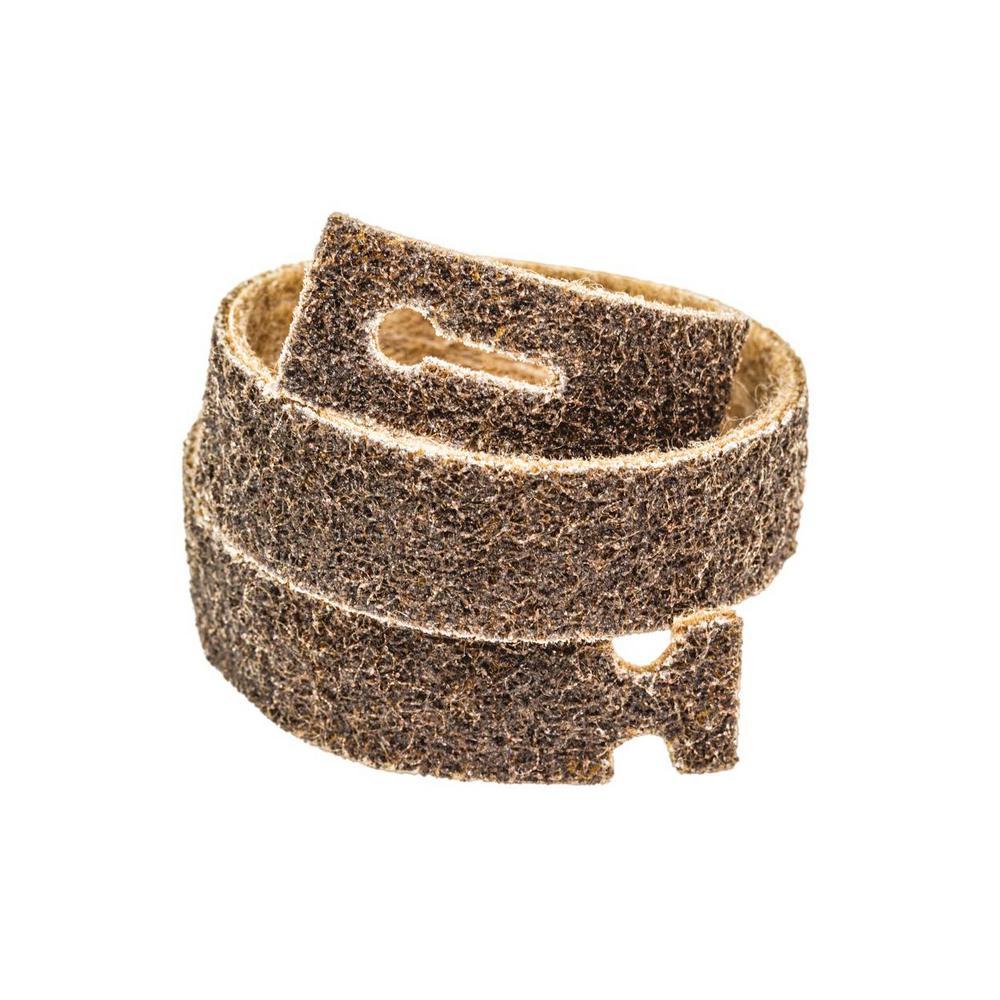 Blendex 25 in. L x 1-3/16 in. W T-Lock Belt GR Coarse Surface Conditioning Strip Belts, Tan (Pack of 3)