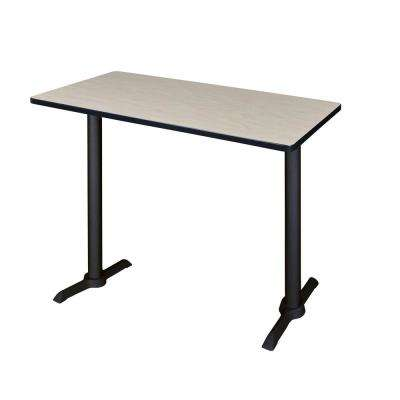Cain Maple 48 in. W Cafe High Training Table