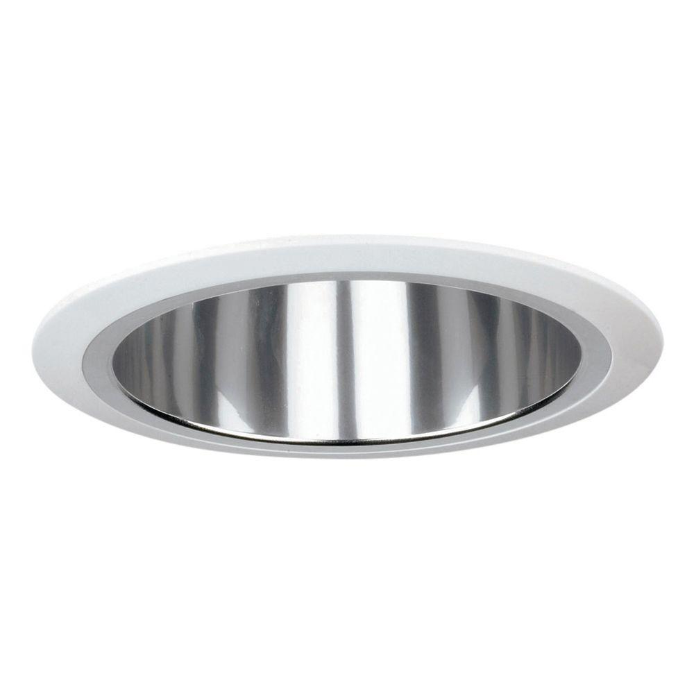 Yosemite Home Decor Recessed Lighting 7.12-in. Reflector Trim for Recessed Lights, Clear