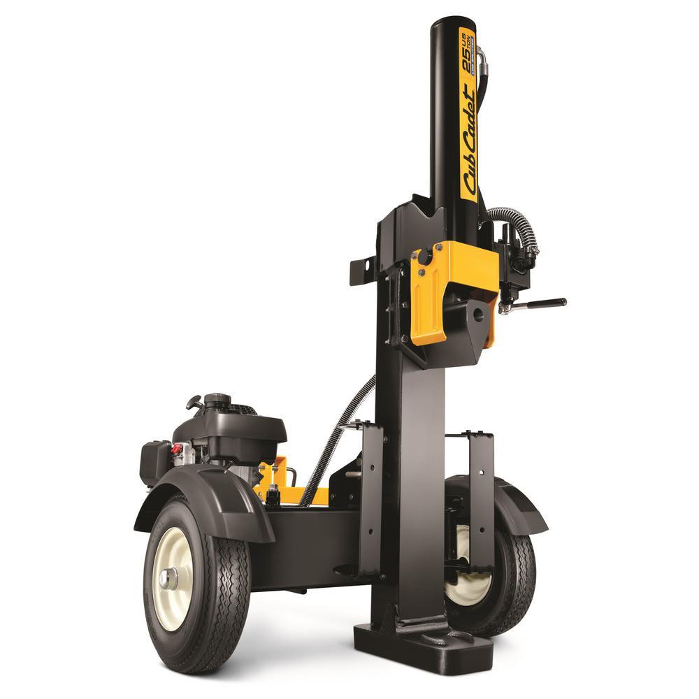 25-Ton 160 cc Honda Powered Gas Log Splitter with Vertical or Horizontal Operational Options