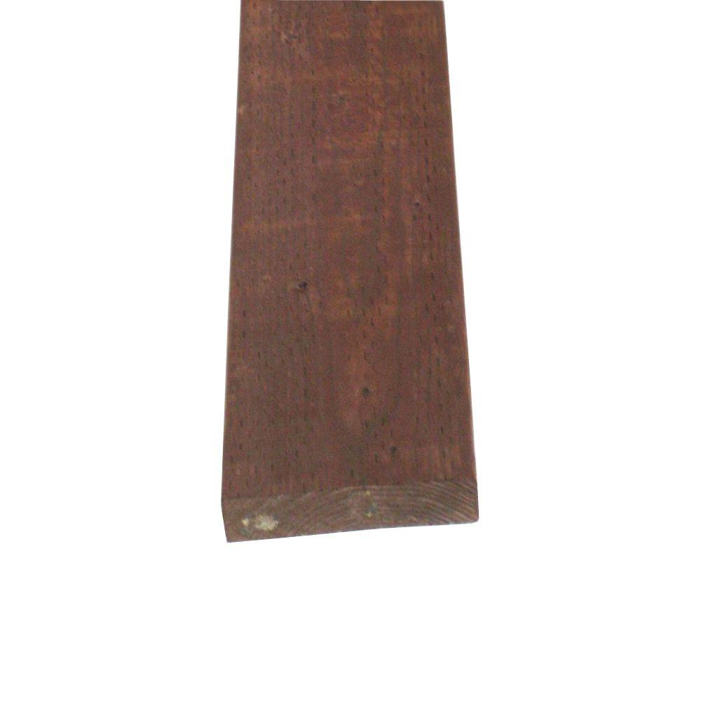 null Pressure-Treated Lumber HF Brown Stain (Common: 2 in. x 8 in. x 16 ft.; Actual: 1.5 in. x 7.25 in. x 192 in.)