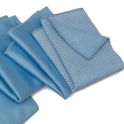 Microfiber Cleaning Cloths for Windshield and Glass, Multi-Colored (10-Pack)