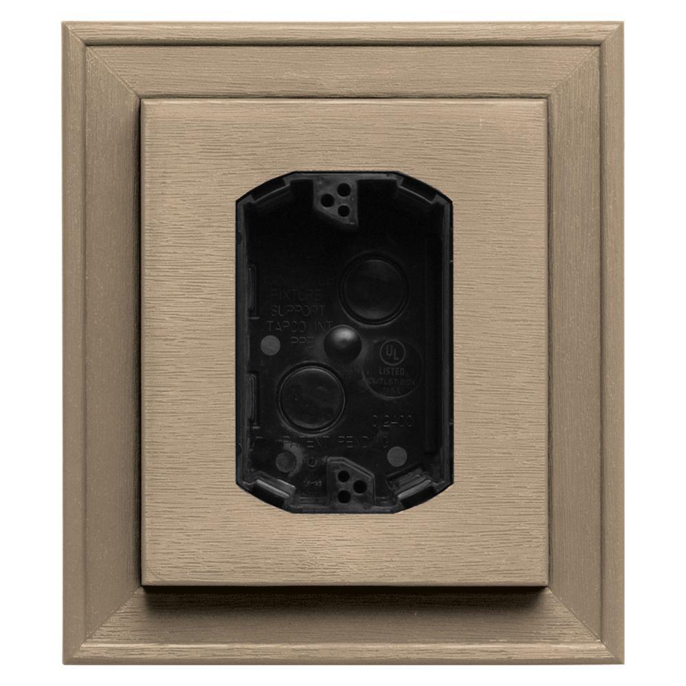 7 in. x 8 in. #069 Tan Electrical Mounting Block