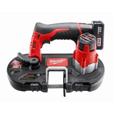 M12 12-Volt Lithium-Ion Cordless Sub-Compact Band Saw XC Kit W/ (1) 3.0h Battery, Charger & Hard Case