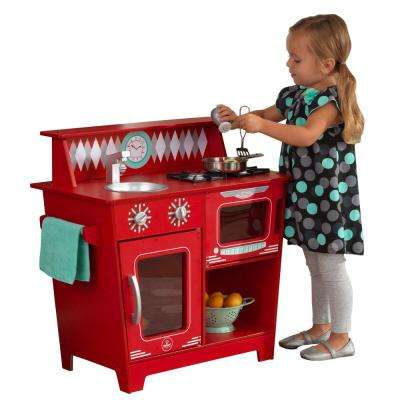 Classic Red Kitchenette