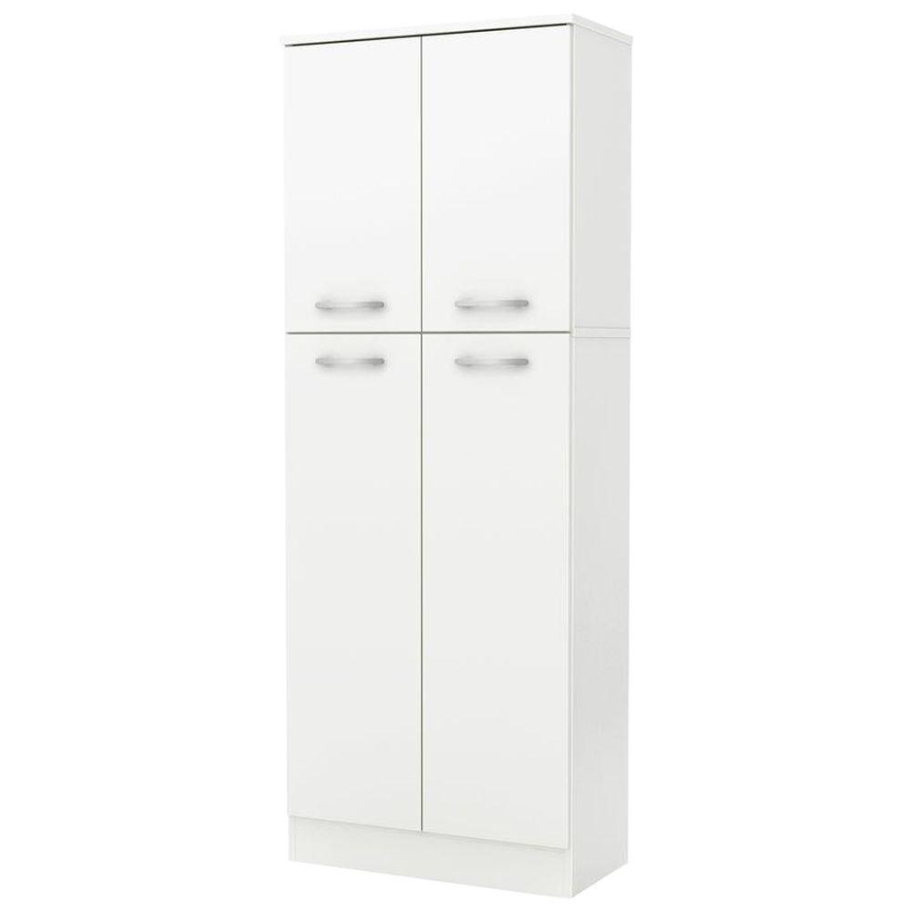 South Shore Fiesta 4-Door Wood Laminate Pantry in Pure White