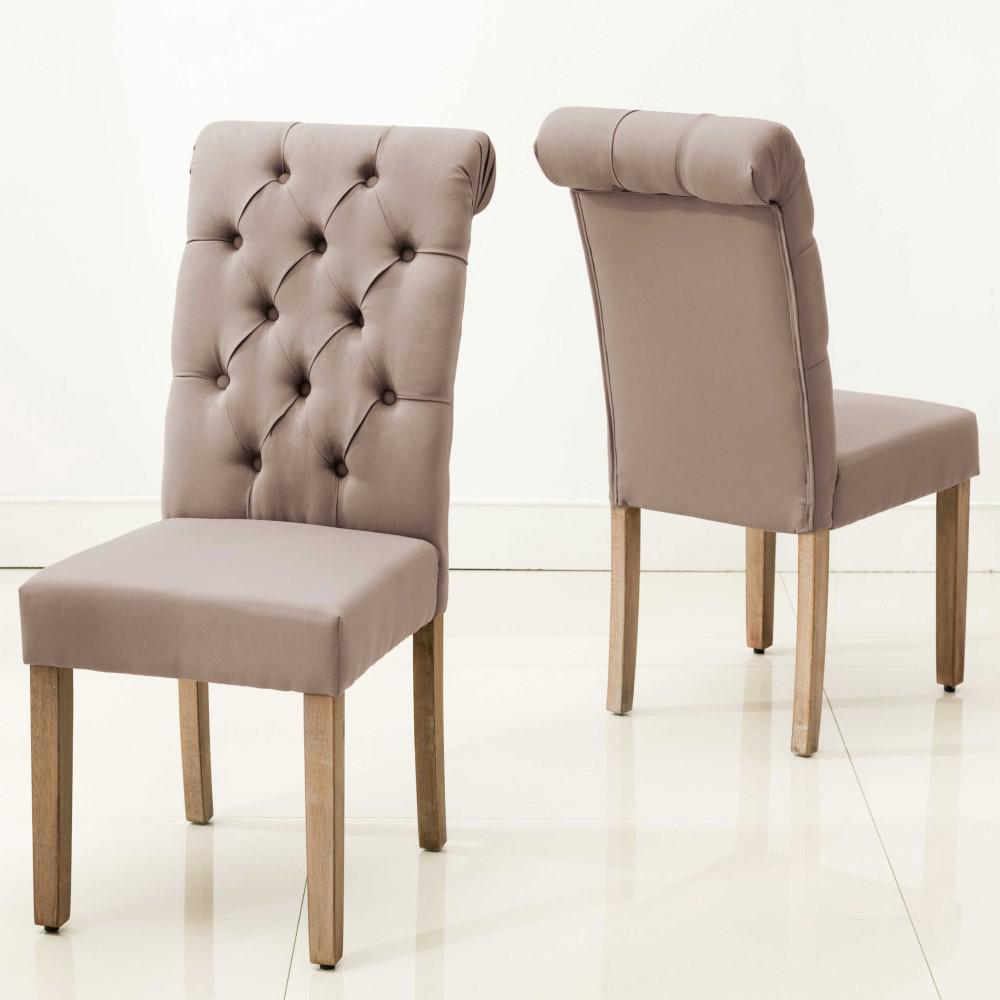 HomeRoots Caroline Brown Wood Side Chair (Set of 2)