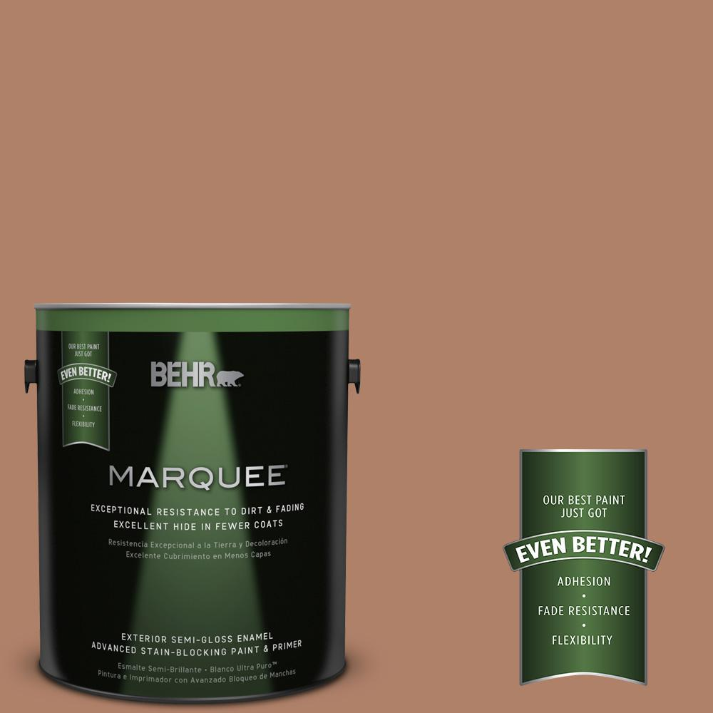 BEHR MARQUEE 1-gal. #S210-5 Cider Spice Semi-Gloss Enamel Exterior Paint