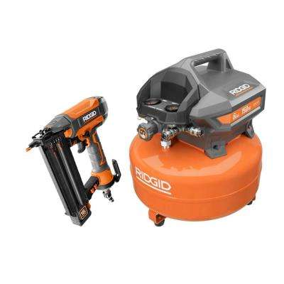 6 Gal. Electric Pancake Air Compressor and 18-Gauge 2-1/8 in. Brad Nailer