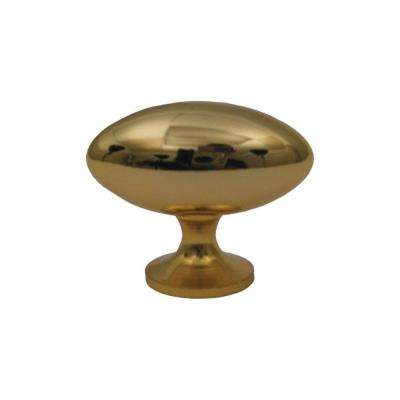 1-1/2 in. Polished Gold Oblong Shaped Knob