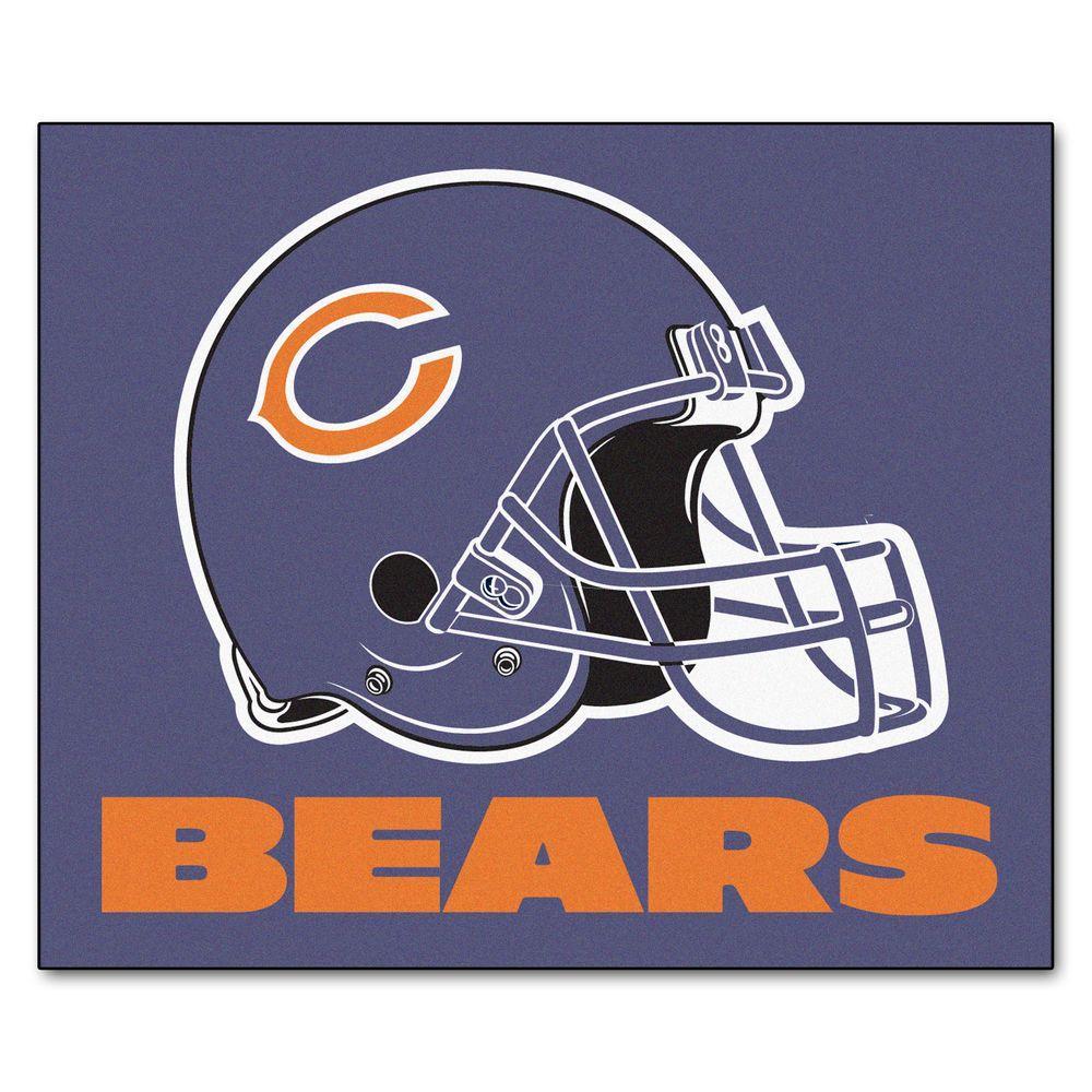 FANMATS Chicago Bears 5 ft. x 6 ft. Tailgater Rug
