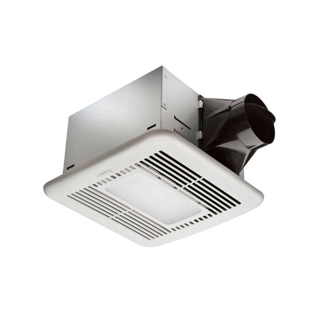 Hampton Bay Decorative White 80 CFM Ventilation Fan with LED Light and Nightlight-DISCONTINUED