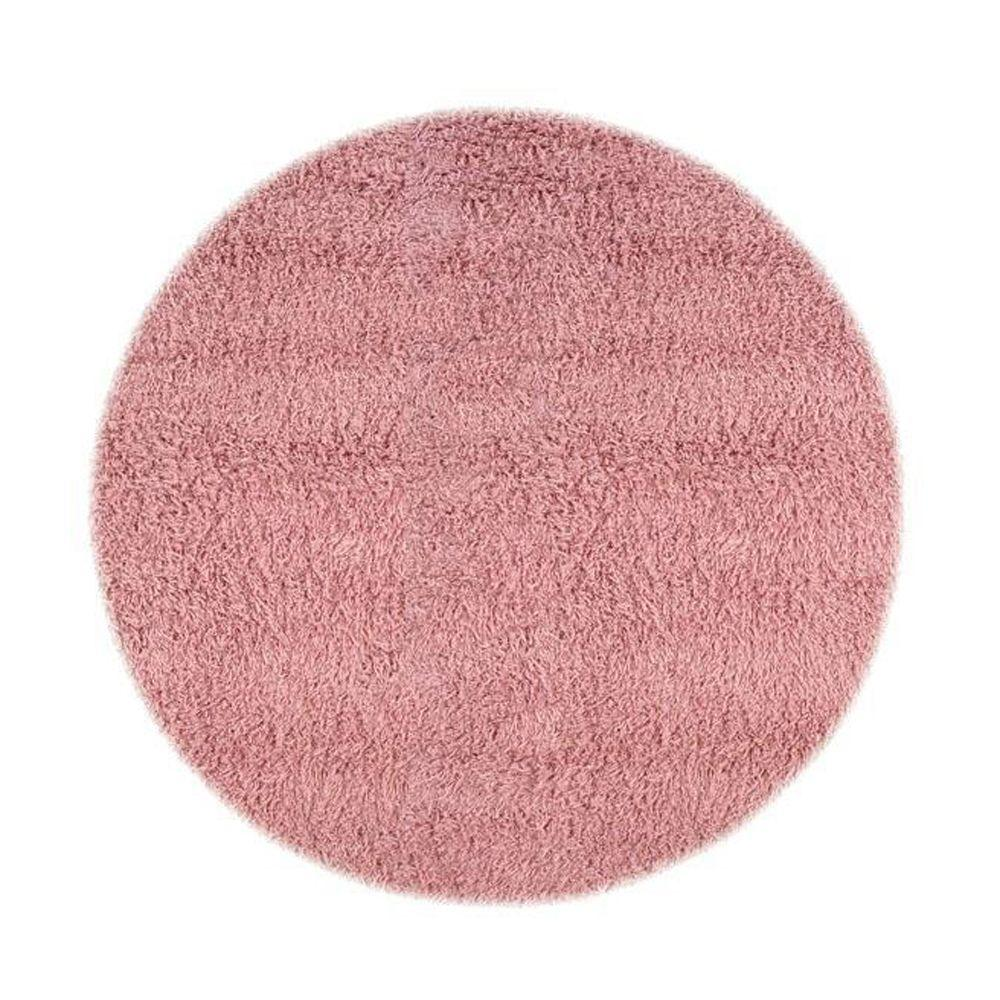 home decorators collection ultimate shag pink 8 ft round