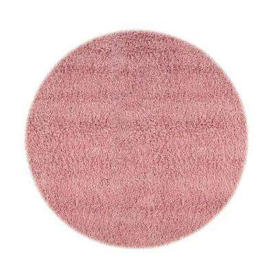 Ultimate Shag Pink 8 ft. Round Area Rug