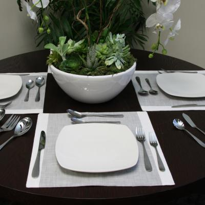 Hammered 46-Piece Stainless Steel Flatware Set (Service for 8)