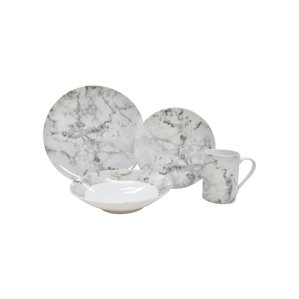 Shutter 16-Piece White Dinnerware Set