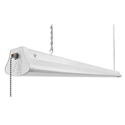 28-Watt White LED Chain-Mount Shop Light