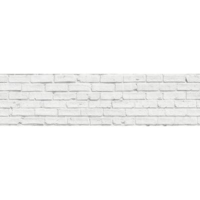 White Bricks Peel and Stick Backsplash Wall Decal