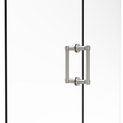 Contemporary 6 in. Back-to-Back Shower Door Pull in Polished Nickel