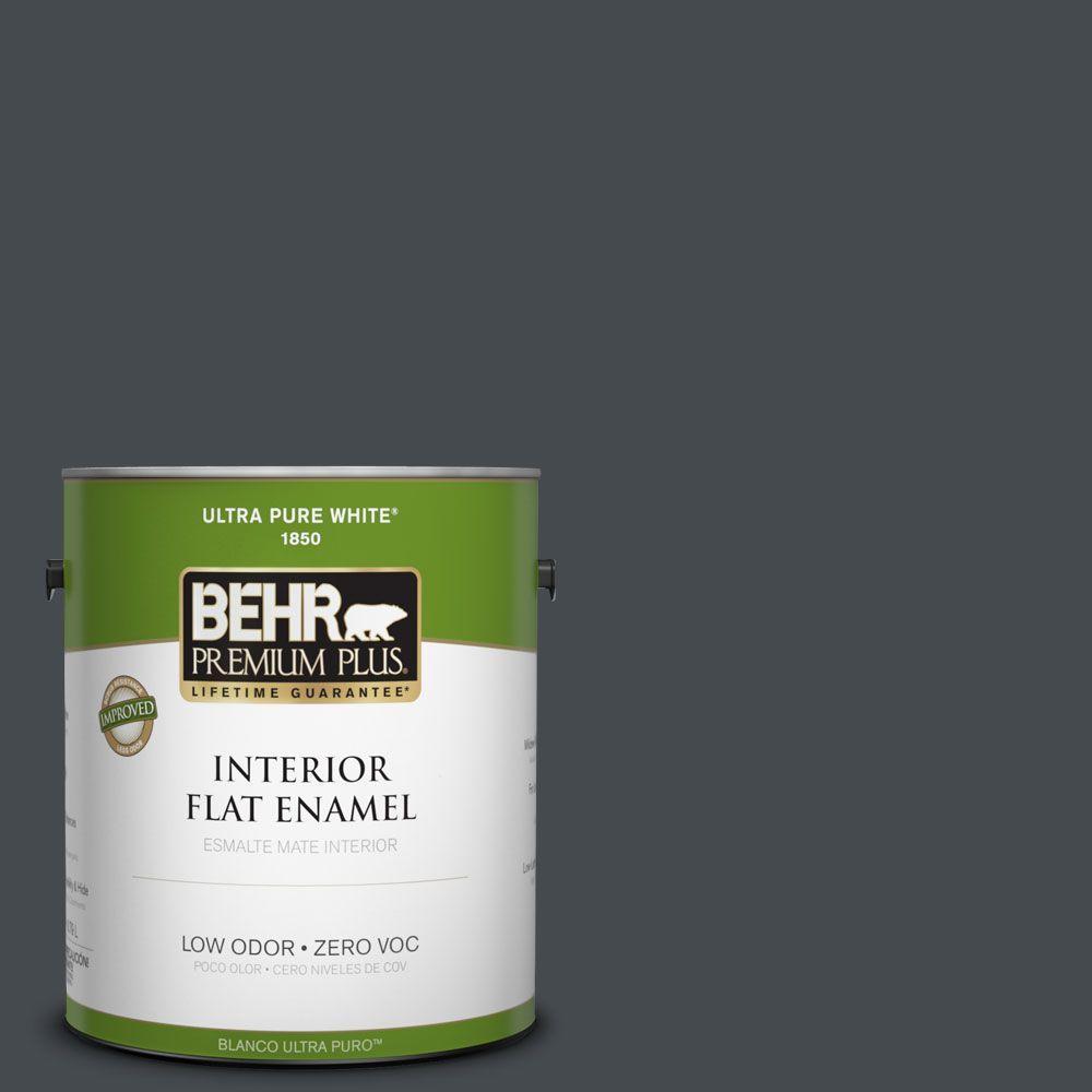 BEHR Premium Plus Home Decorators Collection 1-gal. #HDC-WR14-4 Winter Coat Flat Enamel Interior Paint-DISCONTINUED