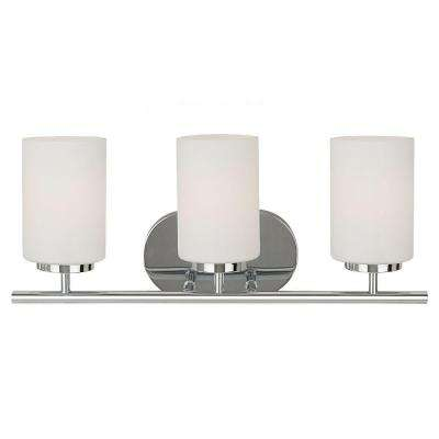 Oslo 3-Light Chrome Vanity Light