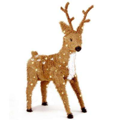 standing reindeer with clear lights - Indoor Christmas Reindeer Decorations
