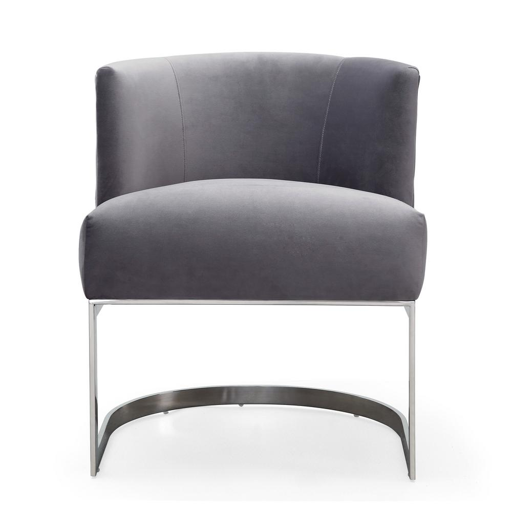 TOV Furniture Eva Grey Velvet Chair