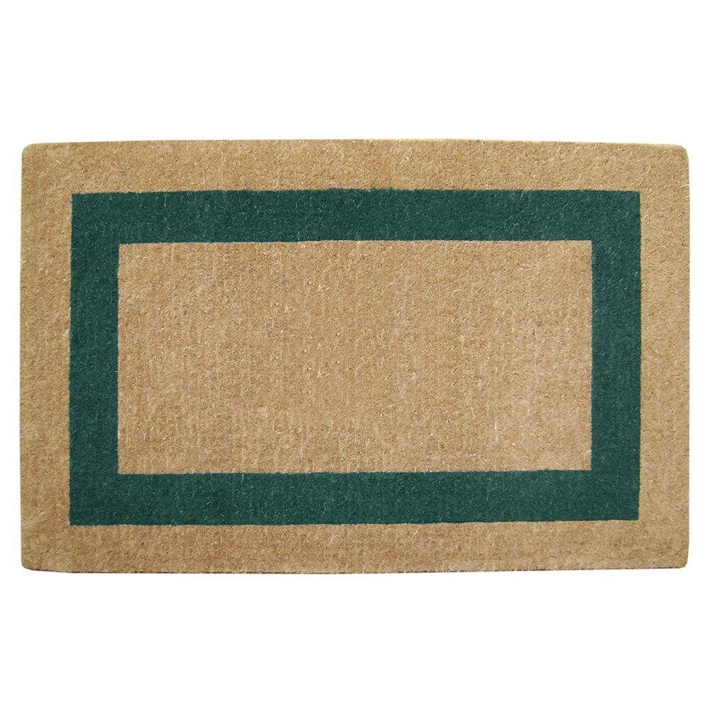 Single Picture Frame Green 30 in. x 48 in. Coir Door