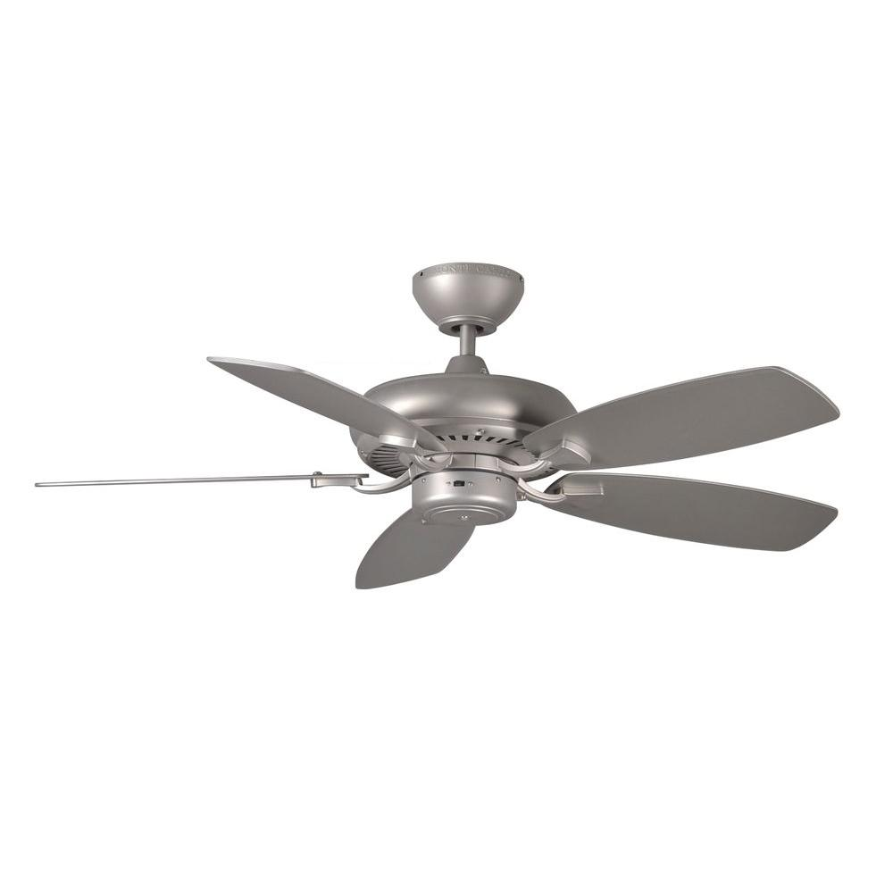 Monte Carlo Designer Max Ii 44 In Brushed Pewter Silver Ceiling Fan